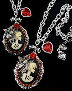 """BLOODY MARY NECKLACE"" by Francesca Dani #gothicjewelry #steampunk #handmade #goth #gothic #jewelry"