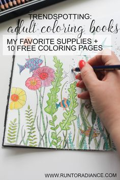 Cool! Great post full of info for adult coloring books like her favorite coloring books, supplies and a ton of sources for FREE coloring pages! Totally printing out a bunch of these this weekend. Need some art therapy lol.