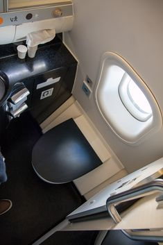 Etihad Business Class Airbus Toilette mit Aussicht #businessclass #airbus #boeing #economyclass #firstclass #etihad #travel #review #food #airbusa330