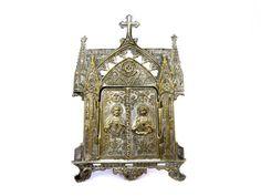Antique triptyque religieux français par LeGrenierDeFrancine