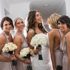 Love this fun moment between gorgeous bride @sarahmack__ with her bridesmaids on her wedding day all looking stunning & enjoying themselves  bridesmaids wearing Goddess By Nature signature multiway ballgowns in the beautiful blush pearl colour  Stockist WhiteRunway.com  www.goddessbynature.com  #goddessbynature #goddessbynaturebridesmaids #bride #bridetobe #bridesmaiddress #bridesmaidsdress #bridesmaiddresses #bridesmaidsdresses #bridetobe #bridalsquad #weddingday