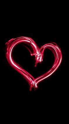 We Heart It Wallpaper, Iphone Wallpapers, Hearts, Neon Signs, Honey, Iphone Wallpaper, Iphone Backgrounds