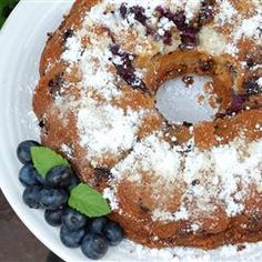 Blueberry Sour Cream Coffee Cake, photo by LauraJean