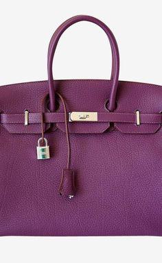 Hermes Hermes Birkin 35 Bag Cassis Fjord Leather Palladium Hardware Tote