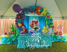 Mermaid Birthday Cakes, Disney Princess Birthday Party, Little Mermaid Birthday, Little Mermaid Parties, Mermaid Party Decorations, Girl Birthday Decorations, 5th Birthday Party Ideas, Photos, Mermaid Birthday
