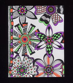 Zentangle Art by Joanna Grant  http://joannabananadesignoriginals.blogspot.com