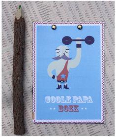 Gratis vaderdag cadeau. Een invulboek dat je gratis kunt downloaden op moodkids.nl. Het coole papa boek waar je je vader echt blij mee maakt.