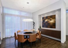 Contemporary dining room by Johnson & Associates Interior Design