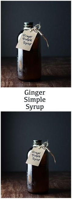 Ginger Simple Syrup.  Spice up your cocktails!  #cocktails #infusions #simplesyrup #ginger