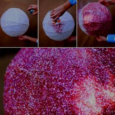 DIY: disco ball lantern  http://herstyledirection.blogspot.com