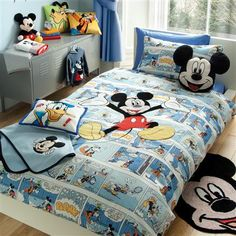 Disney Mickey Comic Strip Duvet & Pillow Case