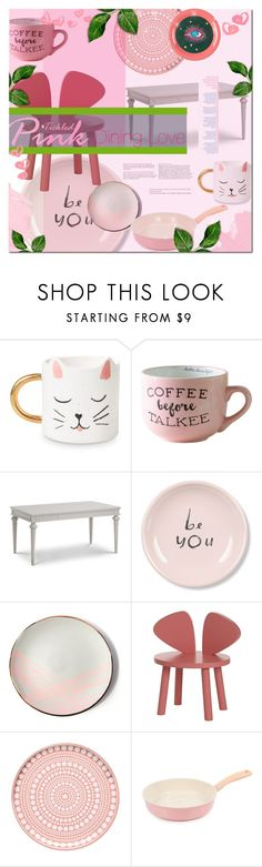 """""""Tickled Pink Dining"""" by elleylove ❤ liked on Polyvore featuring interior, interiors, interior design, home, home decor, interior decorating, Fringe, Sarah Cihat, iittala and Neoflam"""
