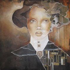 Surreal Portrait Paintings by Canadian artist Pascale Pratte. Influenced by sculpting, computer graphics, the women portraits created by Pascale all Abstract Portrait, Portrait Paintings, Surreal Portraits, Watercolor Portraits, Surrealism Painting, Art Et Illustration, Canadian Artists, Art Design, Face Art