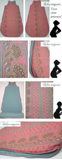 Gigoteuse tissu provençal unique chez http://www.bebecompote.com sleeping baby bag time ♥