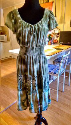OVERDRIVE Womans Plus Size Dress Size 18/20 BOHO Hippie Peasant Dress #Overdrive #Sundress #Businessorcasual