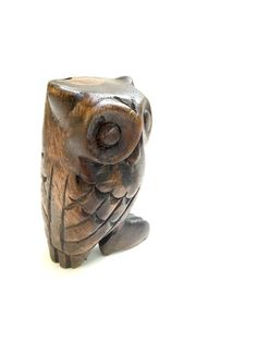 Teak Wood Owl Whistle. Hand Carved Bird Call. by GatewayHeirlooms