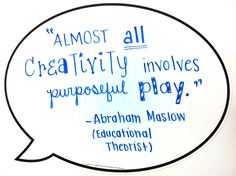 """Almost all creativity involves purposeful PLAY. Psychology Online, Psychology University, Masters In Psychology, Psychology Careers, Applied Psychology, Psychology Courses, Psychology Programs, Counseling Psychology, Psychology Quotes"