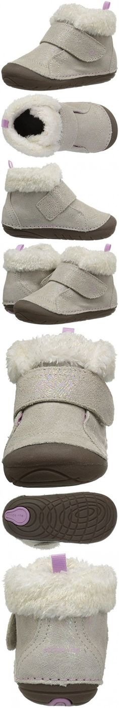 Stride Rite Girls' Soft Motion Sophie Fashion Boot, Champagne, 3.5 Medium US Infant