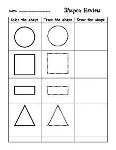 Shapes Review -- Color, trace, and draw!