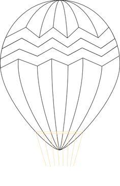 hot air balloon template hot air balloon clip art