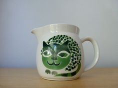 Vintage Arabia of Finland Cat Pitcher