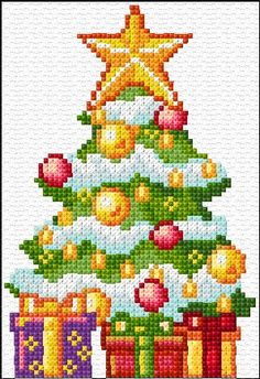 Christmas tree Free cross stitch web site Embroidery Kit 1589