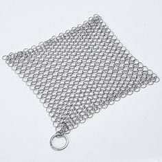 Stainless Steel Chainmail, Starker Cast Iron Cookware Cleaner Chainmail Scrubber XL 8x6 Inch Square ... Starker http://www.amazon.com/dp/B019XKCUTG/ref=cm_sw_r_pi_dp_90TTwb0DG6VSN