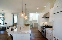 white kitchen open concept - Google Search