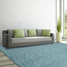Comfort Shag Aqua (Blue) 8 ft. x 10 ft. Area Rug