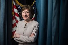 Susan Collins (R) is one of the last moderates in a nation that eschews moderation. Susan Collins, Economics, Maine, Acting, Hold On, Finance, Politics, Naruto Sad
