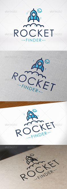 Rocket Search Logo Template — Vector EPS #host #logo template • Available here → https://graphicriver.net/item/rocket-search-logo-template/6901426?ref=pxcr