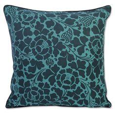 BaliZen Collection : Cushion Prada Teal Indigo 45x45. Fair trade luxury.