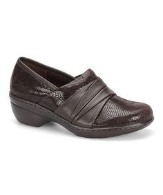 Look what I found on #zulily! Coffee Patchwork Bayonne Leather Clog #zulilyfinds