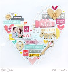 #papercraft #scrapbook #layout Love You Always by @paigeevans for Elle's Studio #scrapbooking #ellesstudio