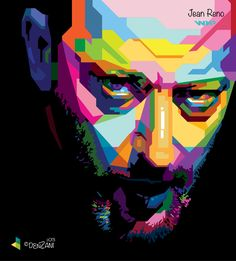 Jean Reno - Wedha's Pop Art Portrait Jean Reno, Classic Cartoon Characters, Classic Cartoons, Music Painting, Painting For Kids, Robert Smith, Leader Movie, Stoner Art, Pop Art Portraits