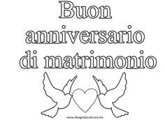 """scritta """" Buon anniversario di matrimonio """""""