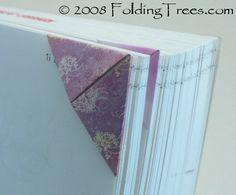 Origami Dreieck-Lesezeichen