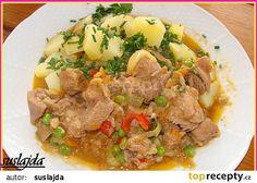 Krůtí po zahradnicku recept - TopRecepty.cz Pork, Beef, Eat Lunch, Meat, Cooking, Kale Stir Fry, Pigs, Ox, Ground Beef