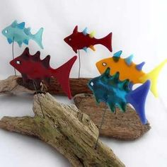 """Drifting By"" Fused Glass Fish from Lazy Daisy Glass (www.lazydaisyglass.co.uk) from £14.00"