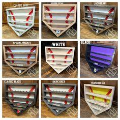 Baseball Shelf, Baseball Trophies, Baseball Ring, Baseball Crafts, Baseball Mom, Ring Displays, Display Homes, Personalised Box, Rainbow Unicorn