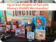 Check out some of the new and fun exciting merchandise inspired by Disney's latest animated film... PLANES!! #DisneyPlanes #DisneyPlanesEvent