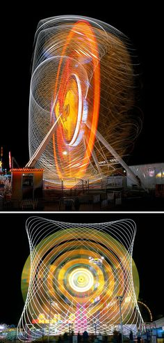 Gorgeous Long Exposures of Those Familiar Carnival Rides
