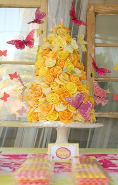 Ella  wants a butterfly birthday party - this would be fun for the 'cupcakes' for her party!  @Melissa Hesse reminds me of those cute centerpieces you makde!