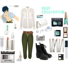 Grey Fullbuster polyvore from fairy tail