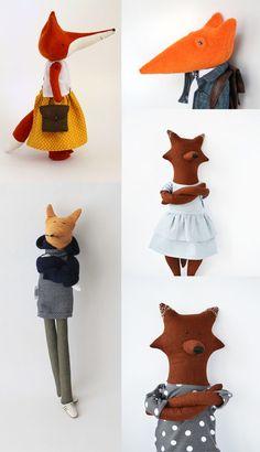 Knuffels à la carte blog: Best dressed foxes!!