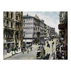 Vintage 1890s Berlin Friedrichstrasse posters and postcards