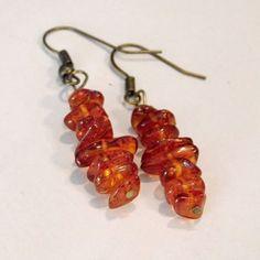 Amber Earrings, Tribal Style