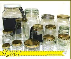 At #PlasticsforAfrica we stock a range of #glass jars, perfect for your canned fruits or vegetables. Visit your nearest branch today.