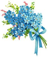 PNG image ~ forget-me-not bouquet