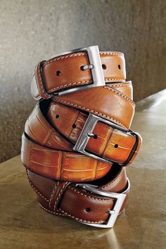 Trafalgar Belts. BELT IT OUT. Accessorize with a sharp leather belt.